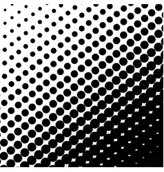 halftone dots on black background vector image vector image