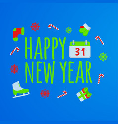 Happy new year banner and giftcard vector