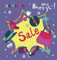 Holiday market garage sale vector