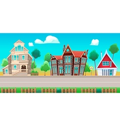Houses Background01 vector image