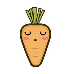 Kawaii cartoon carrot vector