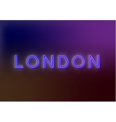 London - neon sign vector image