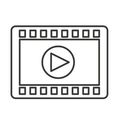 media player button play icon vector image vector image