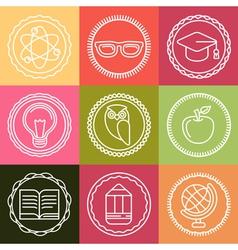 school logos vector image vector image