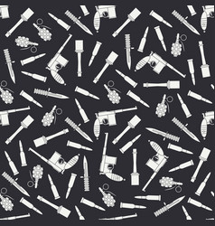 Seamless flat pattern with military equipment vector