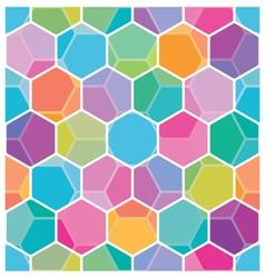 Seamless honeycomb pattern vector