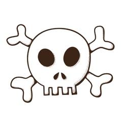 Skull and bones Jolly Roger symbol vector image