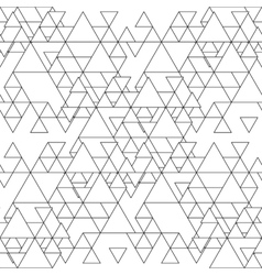 Triangular seamless pattern Abstract black vector image