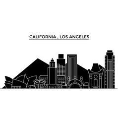 usa california los angeles architecture vector image vector image