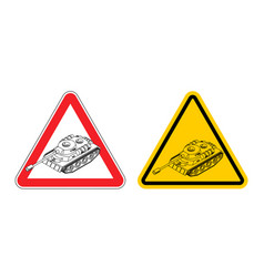 warning sign of attention war vector image