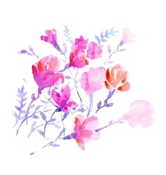 watercolors colorful flowers vector image vector image