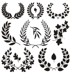 Wreath icons vector