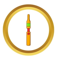 Yellow electronic cigarette icon vector