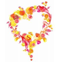 Pink wave heart vector