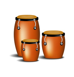 Congas the percussion of music band with shadow vector