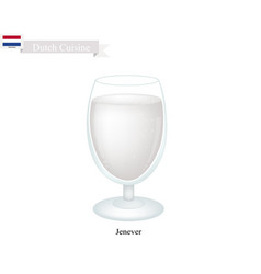 Jenever or dutch gin a traditional drink in nethe vector