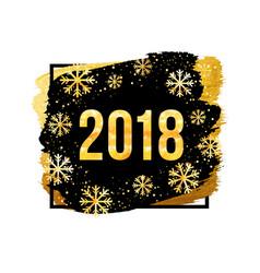2018 happy new year background golden vector image