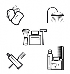 Hygiene objects vector