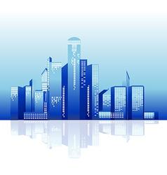 city tower night vector image