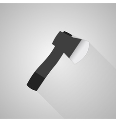 Axe icon on gray background vector