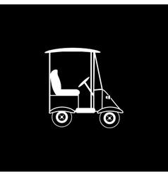 Golf black white car electric vehicle vector