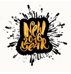 New year gold glitter concept hand lettering vector