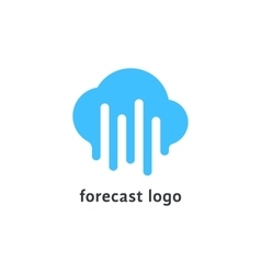 Forecast logo with melted blue cloud vector