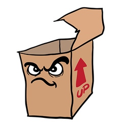 Angry freehand drawn cartoon empty box vector
