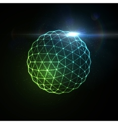 3d illuminated sphere vector