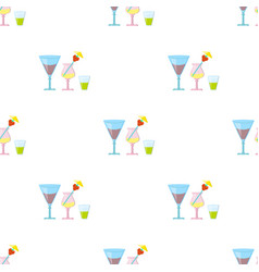 Cocktails icon in cartoon style isolated on white vector
