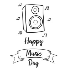 Collection celebration music day style vector