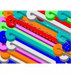 color 3d shapes backdrop vector image vector image