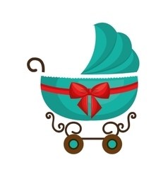 Cute cart baby isolated icon vector