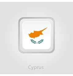 Cyprus flag button vector