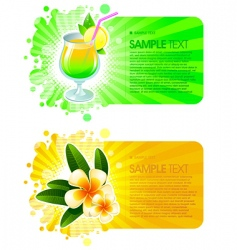 exotic resorts frames vector image vector image