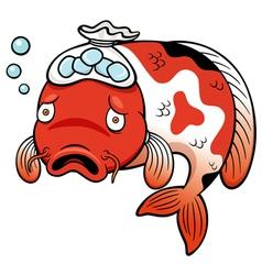 Fish sick vector image