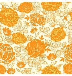 Golden art flowers seamless pattern background vector image vector image
