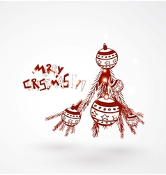hand drawn christmas background vector image
