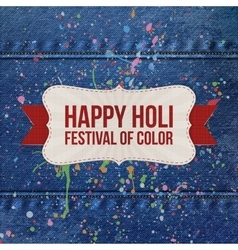 Holi indian festival of color background vector