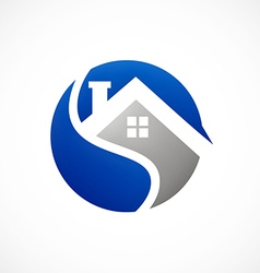 home realty icon abstract logo vector image vector image