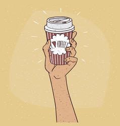 I love coffee on paper cup of coffee vector