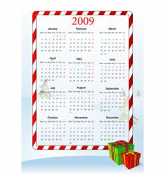 illustration of european calendar vector image vector image