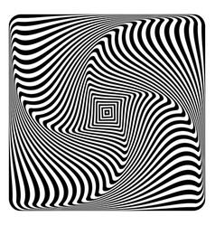 Op art abstract design vector