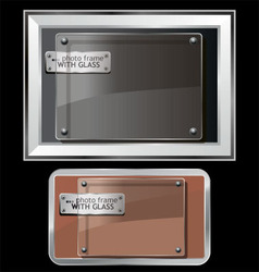 photo frame with glass vector image