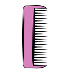 Pink plastic comb icon icon cartoon vector