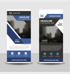 Purple black business roll up banner flat design vector