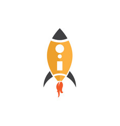 rocket on the white vector image