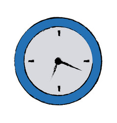 Round clock time hour business object icon vector