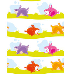 Seamless pattern with funny colored painted vector