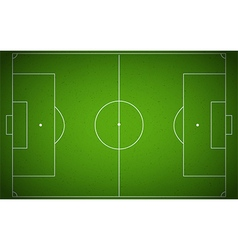 Soccer field or soccer field top view vector image